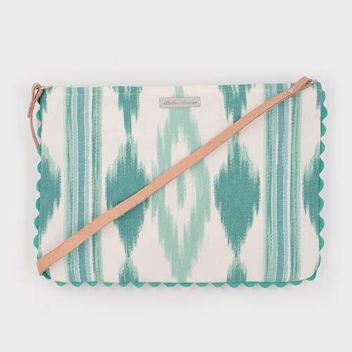 a20f3fddd Bandolera Verde Agua sin Monedero - Atelier Artisan Handmade